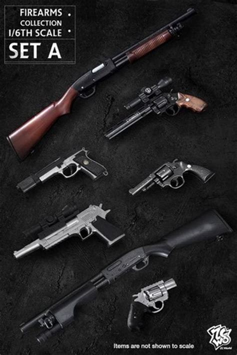 6 figure weapons zc world firearms collection set 1 6 scale figure