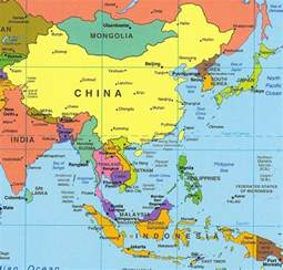 east south asia map an overview