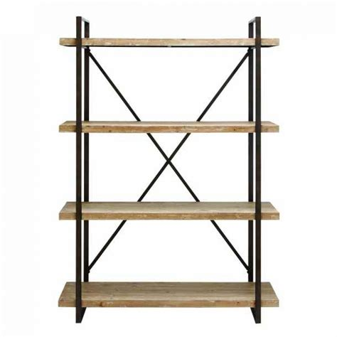 Kitchen Cabinets Wine Rack by Modern Industrial Metal And Wooden Shelf Tall Bookcase