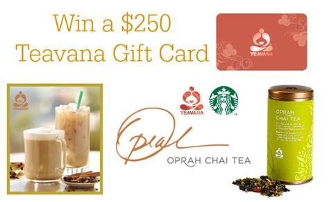 Can You Use Starbucks Gift Cards At Teavana - teavana oprah chai tea starbucks giveaway