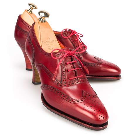 high oxford shoes high heel oxford shoes in vitello
