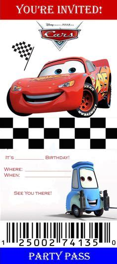 Cars Invitation Cards Templates by Disney Cars Birthday Invitation Free Template Time To