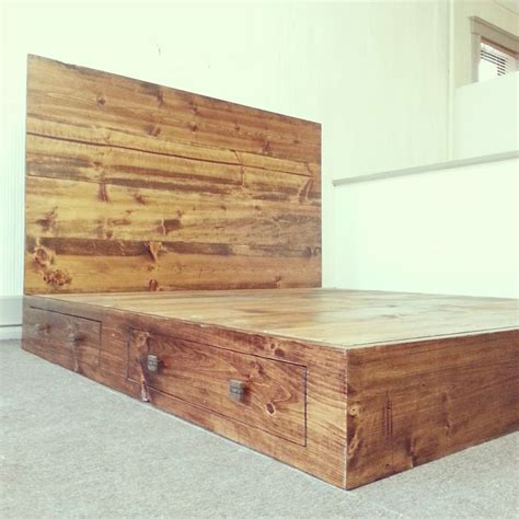 California King Bed Frame With Storage Rustic California King Size Platform Bed Frame With Storage Drawers H O M E