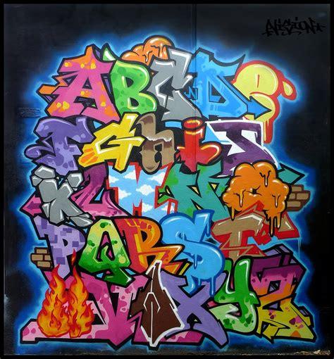 graffiti walls colorfull vizion graffiti alphabet