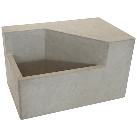 scarpa i cast concrete bench or planter at 1stdibs