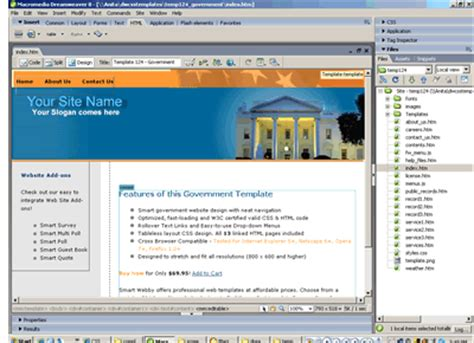 free templates for government website government web template