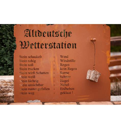 Gartendeko Zum Geburtstag by Edelrost Wetterstation Aus Edelrost Zum H 228 Ngen 80 X 70 Mit