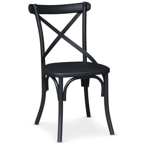 chaise en m 233 tal angie noir mat achat vente chaise salle