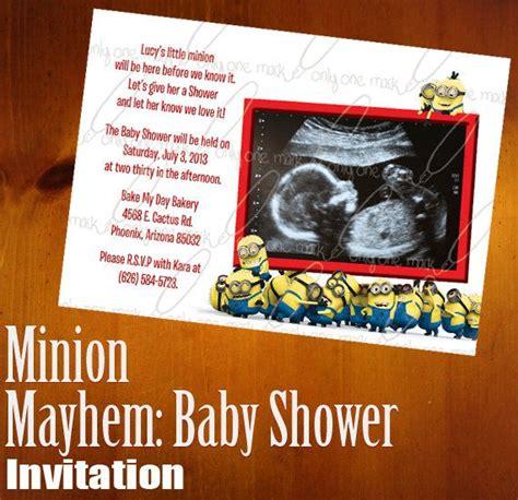 Handmade Minion Invitations - custom minion set of 25 baby shower invitations
