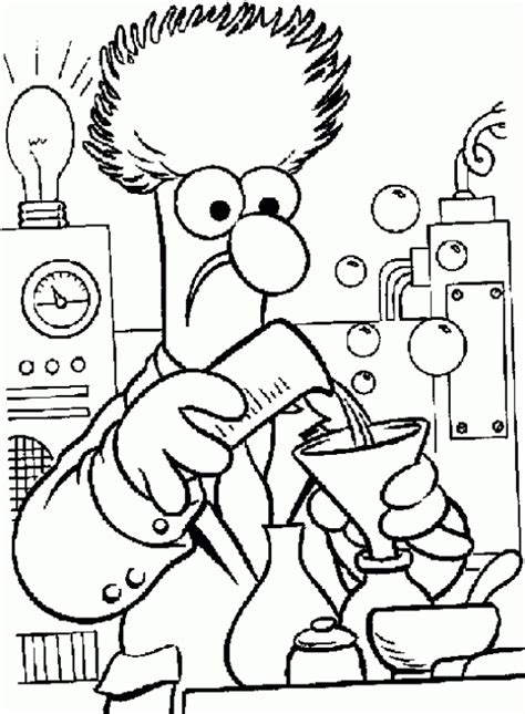 coloring book for scientists a scientist working in his lab in science coloring page