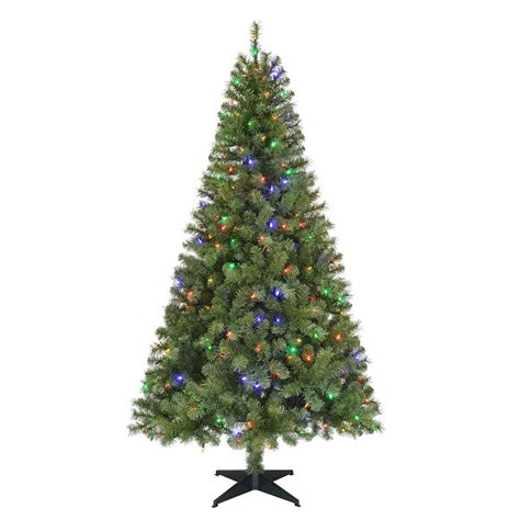 2 ft tree with lights home accents 6 5 ft pre lit led greenville spruce