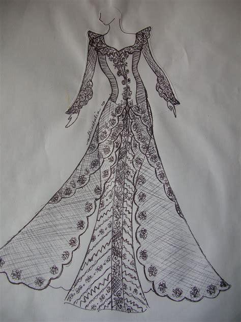 payet gaun pesta desain baju pesta kebaya modern dan gaun pengantin beberapa sketsa design