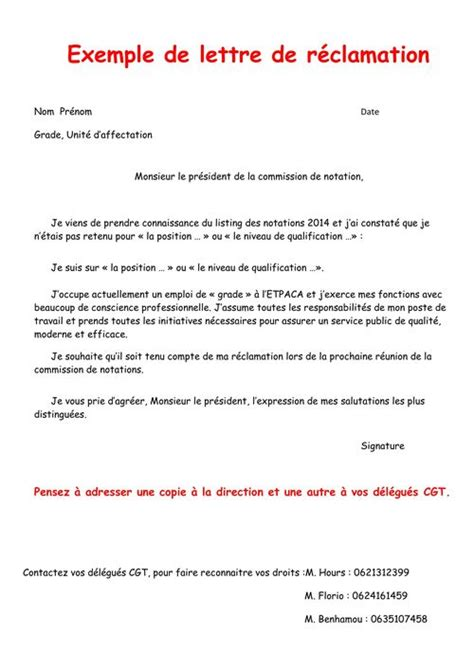 Lettre De Réclamation Mobile Orange Notation Traction Et Lettre De R 233 Clamation Cheminots Cgt Marseille