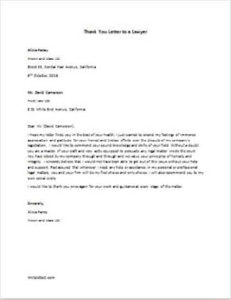 Thank You Letter To Lawyer