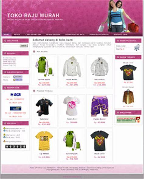 template toko online simple bisnis online sistem jasa pembuatan web design domain