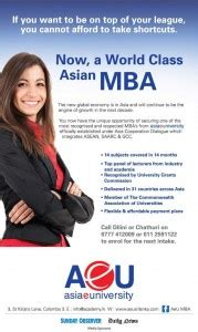 Asia E Mba Ranking by Asia E Masters Of Business Administration Mba