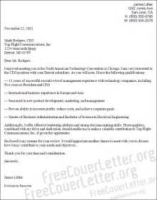 Ceo Cover Letter by Ceo Position Cover Letter Sle