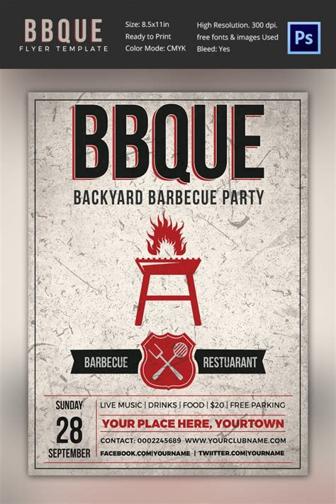 free bbq flyer template 28 bbq flyer templates free word pdf psd eps