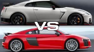 Audi R8 Vs Nissan Gtr 2017 Nissan Gt R Nismo Vs 2016 Audi R8 V10 Plus