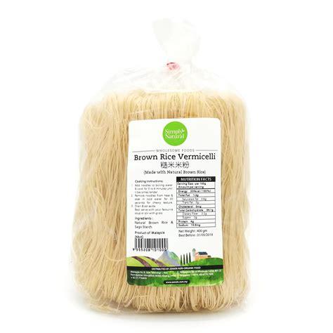 Organic Brown Rice Vermicelli brown rice vermicelli organic express malaysia