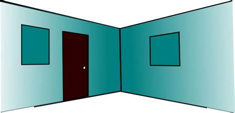 Room Wall Clipart 3d Room Interior 2 Walls 2 Windows Door Clip At