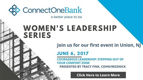 connection bank connectone bank s leadership series tapinto
