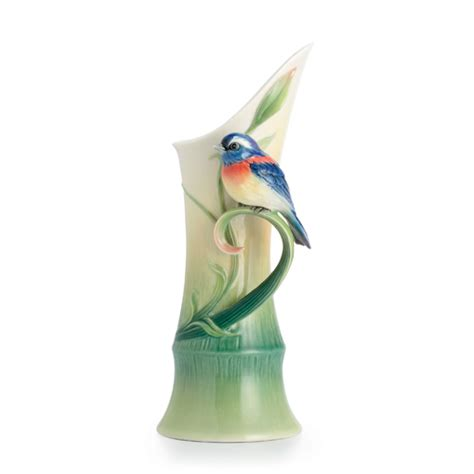 Franz Vase Collection by Franz Porcelain Collection Peace Harmony Bamboo Mid Size Vase