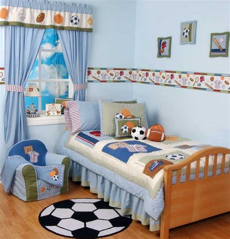 Ideas For Decorating A Boy S Bedroom Walls Blue Soccer Boys Bedroom Theme Ideas Home Design Wall