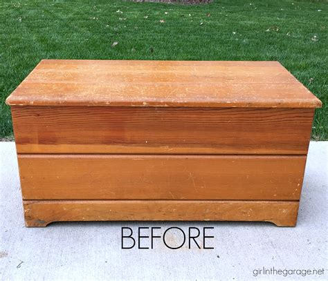 Farmhouse Style Wood Chest Makeover Too Many Ideas Chest Ideas For