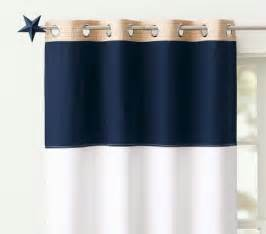 Pottery barn kids rugby striped curtains