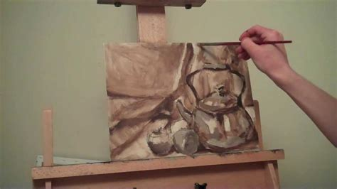 watercolor underpainting tutorial how to oil paint underpainting youtube