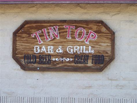 tin top bar and grill sign across from the tin top stopp picture of tin top