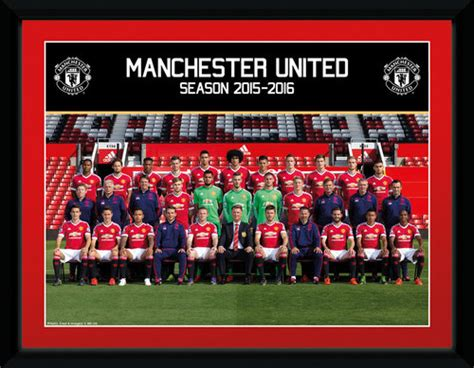 2016 manchester united squad man utd prints official merchandise 2016 2017