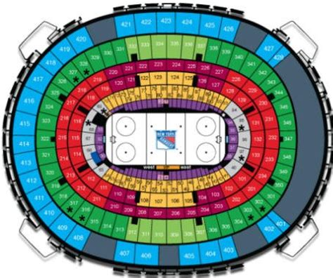 Centre Bell Floor Plan new york rangers tickets schedule 2017 2018 msg seating