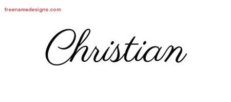 classic names nome cristian tattoos