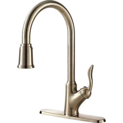 pull down kitchen faucets stainless steel ultra faucets transitional collection single handle pull