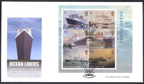 Great Britain Liners 2004 St Set 2 and other liners sts day covers maiden voyage covers and maximum