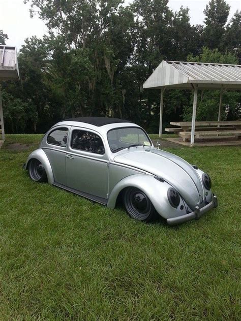 grey volkswagen bug slammed vw beetle the black and gray combo
