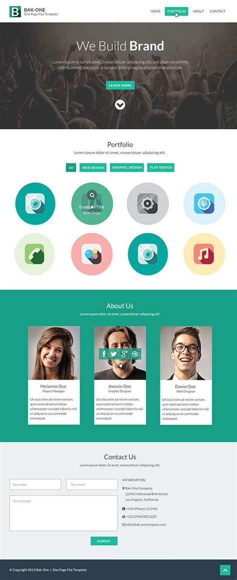 page template psd 26 free one page psd web template designs free