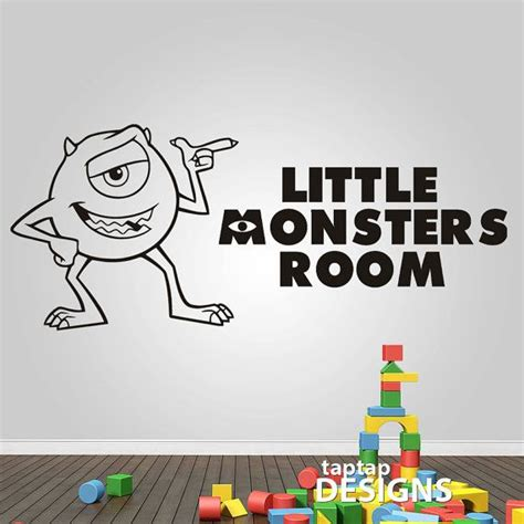 monsters inc wall stickers monsters inc mike wall decal sticker sku0109 by