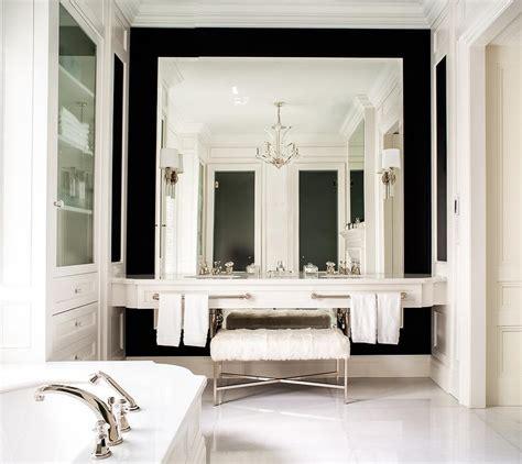 full wall bathroom mirror double floating washstand lining full length mirror transitional bathroom
