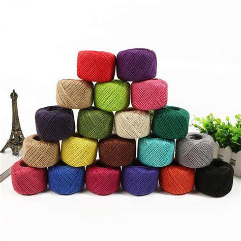 colored jute twine 1roll 50meters colored jute twine diy hemp rope