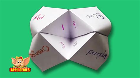 Origami Fortune Teller History - origami paper fortune teller the free