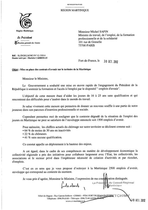 Exemple De Lettre Adressée Au Ministre De L Intérieur Lettre A Michel Sapin Ministre Du Travail