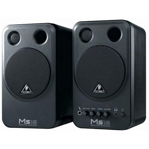 Speaker Monitor Behringer Ms 16 Original Diskon behringer ms16 studio monitors pair at gear4music