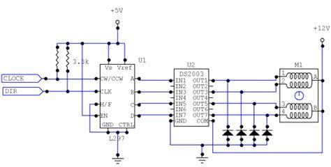 transistor stepper motor driver circuit unipolar stepper motor driver circuit northwestern mechatronics wiki