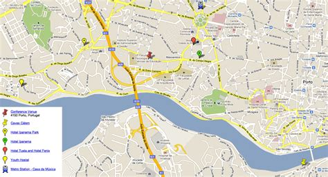 map of porto oporto portugal map images