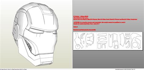 iron suit template iron 9 armor foam pepakura eu