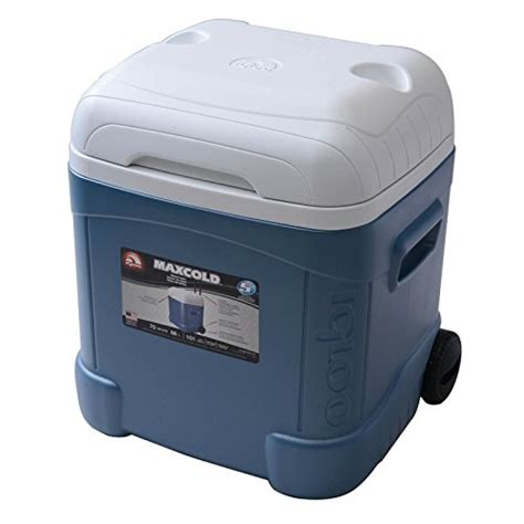 igloo ice cube roller cooler igloo ice cube maxcold roller 70 quart