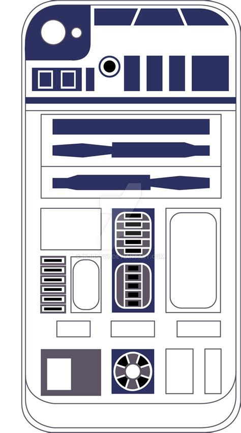 r2d2 template r2d2 iphone 4 skin by injust07 on deviantart